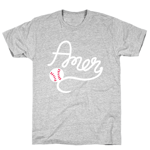 Baseball, Amen Mens T-Shirt
