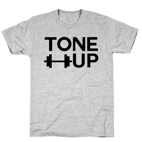 TONE UP (black font) Mens T-Shirt