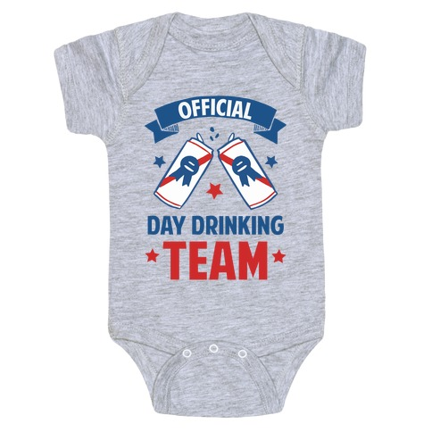 Official Day Drinking Team Baby Onesy