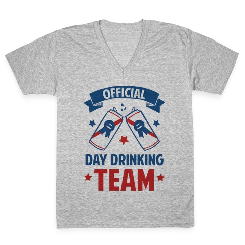 Official Day Drinking Team V-Neck Tee Shirt