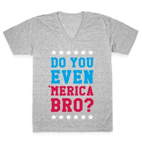 Merican Bro V-Neck Tee Shirt