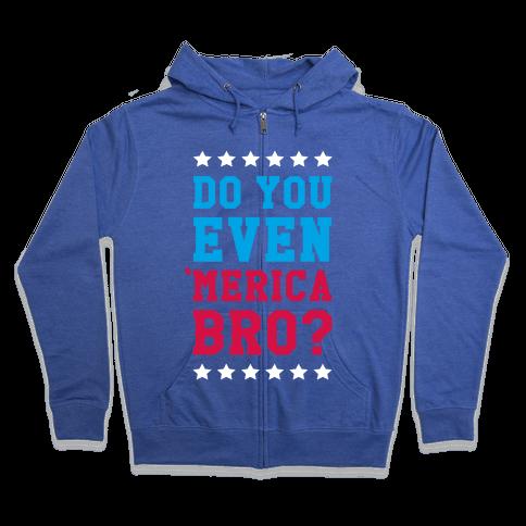 Merican Bro Zip Hoodie