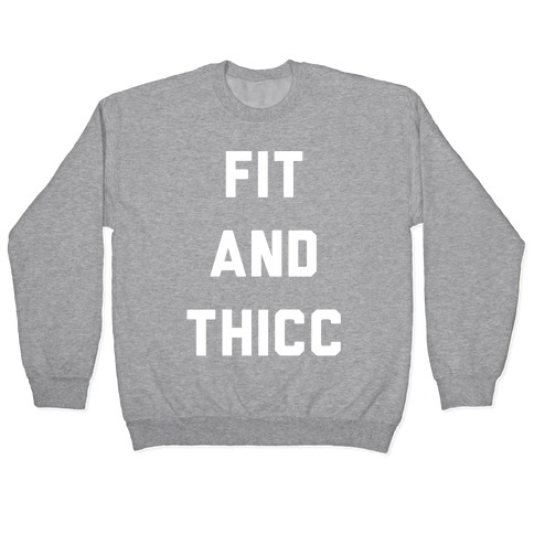 Fit and Thicc White Print Pullover