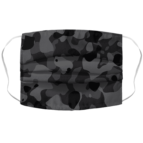 subtle black camo Face Mask Cover