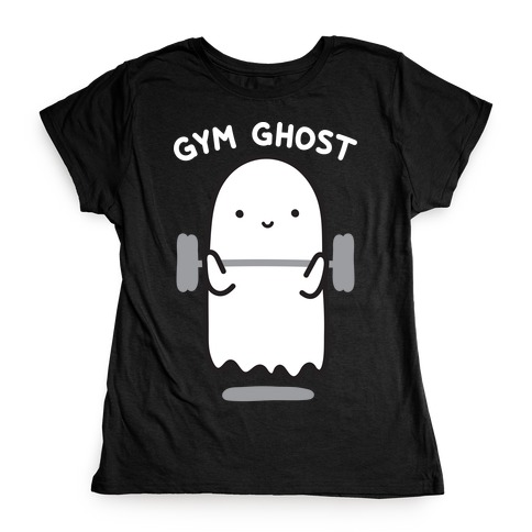 Gym Ghost Womens T-Shirt