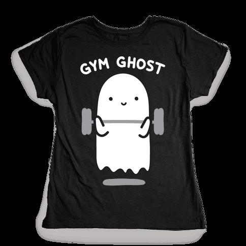 Gym Ghost Womens T-Shirt