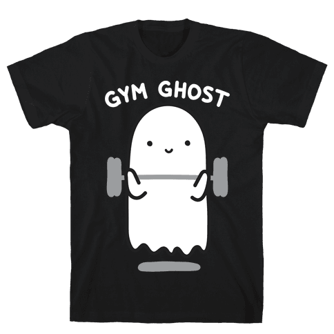 Gym Ghost Mens/Unisex T-Shirt