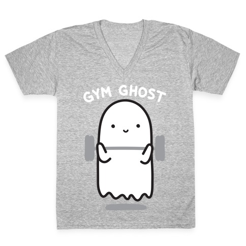 Gym Ghost V-Neck Tee Shirt