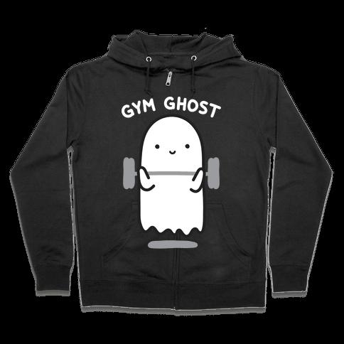 Gym Ghost Zip Hoodie