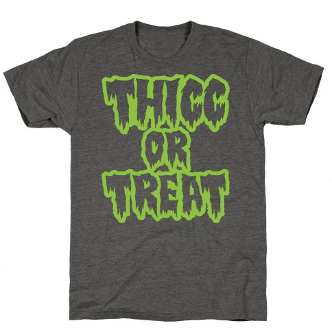 Thicc Or Treat White Print T-Shirt