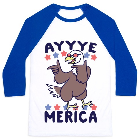 Ayyyyyye-Merica Baseball Tee
