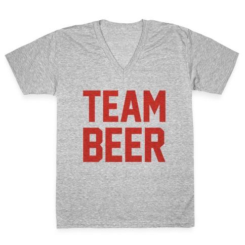 Team Beer V-Neck Tee Shirt