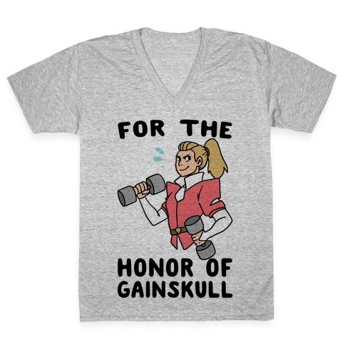 For the Honor of Gainskull V-Neck Tee Shirt
