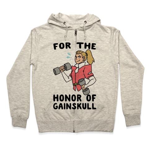 For the Honor of Gainskull Zip Hoodie