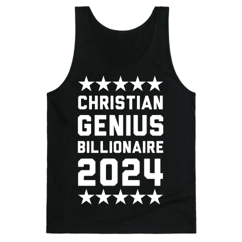 Christian Genius Billionaire 2024 Tank Top