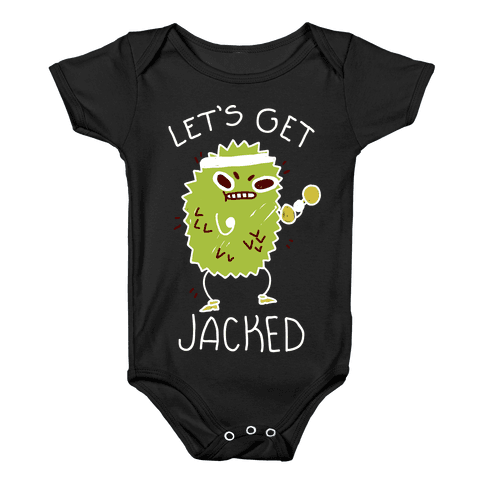 Let's Get Jacked Fruit Baby Onesy