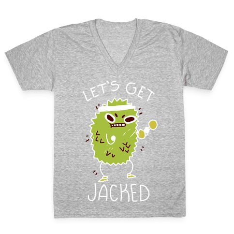 Let's Get Jacked Fruit V-Neck Tee Shirt
