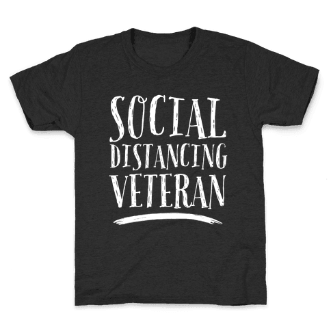Social Distancing Veteran Kids T-Shirt