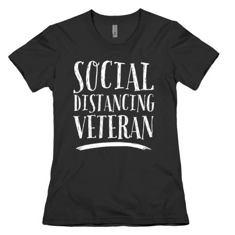 Social Distancing Veteran Womens T-Shirt