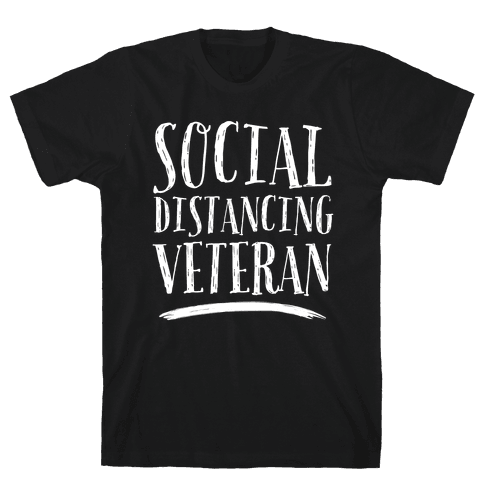 Social Distancing Veteran Mens/Unisex T-Shirt