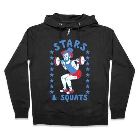 Stars and Squats Zip Hoodie
