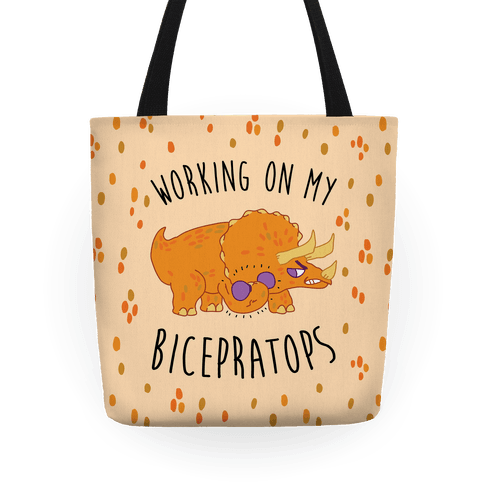 Working on My Bicepratops Tote