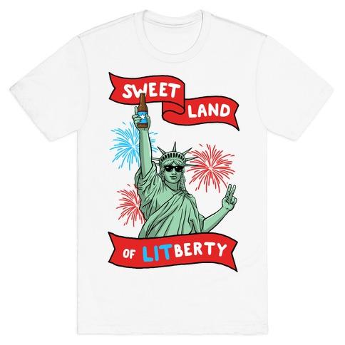 Sweet Land of LITberty T-Shirt