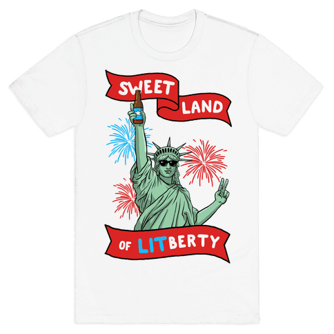 Sweet Land of LITberty Mens/Unisex T-Shirt
