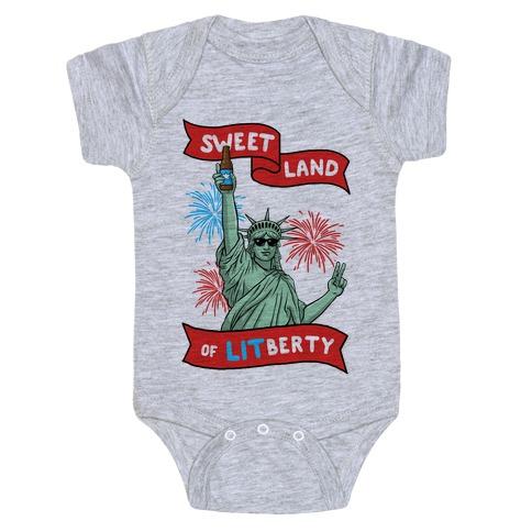 Sweet Land of LITberty Baby Onesy