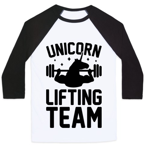 Unicorn Lifting Team Baseball Tee
