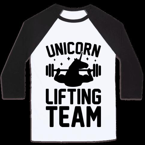 Unicorn Lifting Team Baseball Tee