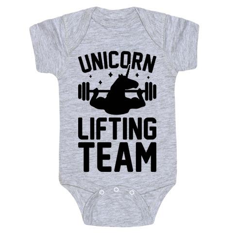 Unicorn Lifting Team Baby Onesy