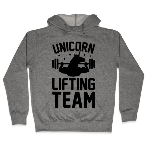 Unicorn Lifting Team Hooded Sweatshirt