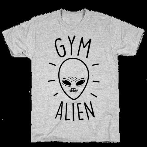Gym Alien Mens T-Shirt