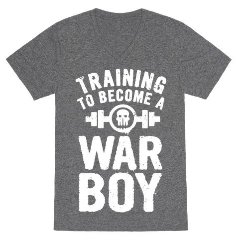 Training to Become a War Boy V-Neck Tee Shirt