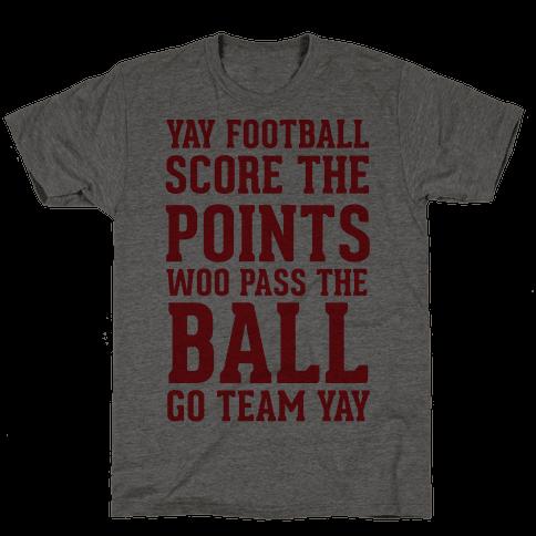 Yay Football Score The Points Woo Pass The Ball Go Team Yay