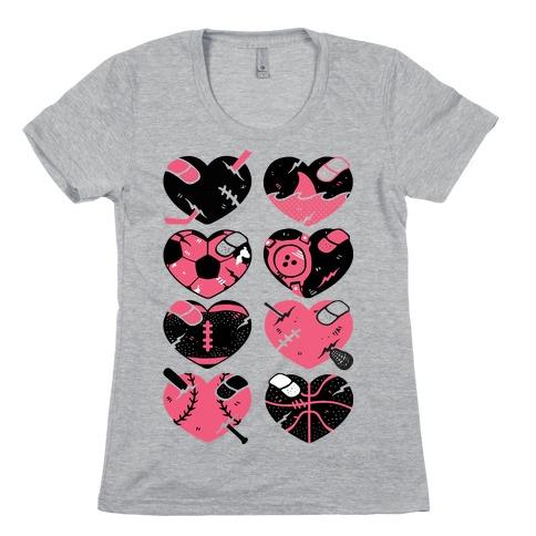 Sport Hearts Womens T-Shirt