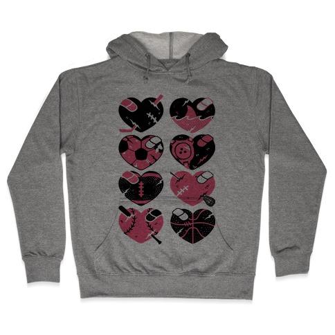 Sport Hearts Hooded Sweatshirt