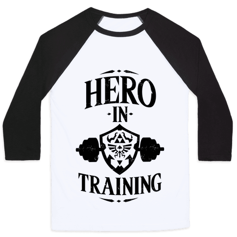 Hero In Training Baseball Tee