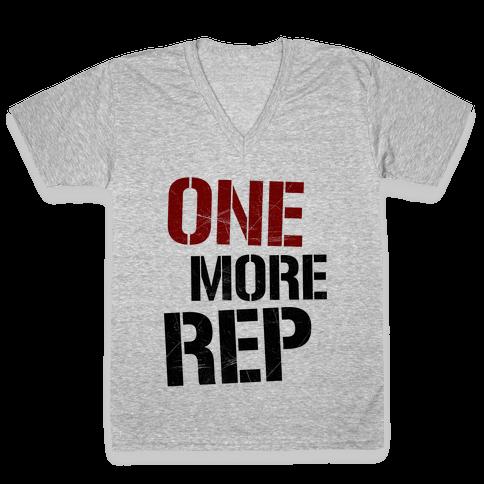 One More Rep V-Neck Tee Shirt