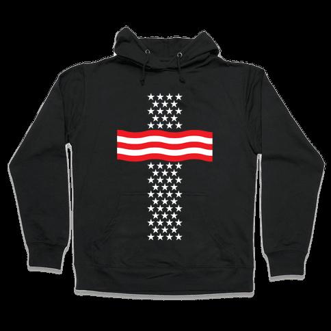 America Cross Hooded Sweatshirt