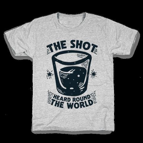 The Shot Heard Round The World Kids T-Shirt
