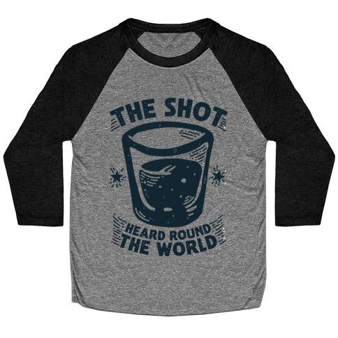 The Shot Heard Round The World Baseball Tee
