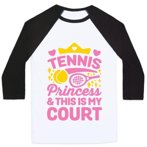 Tennis Princess Baseball Tee