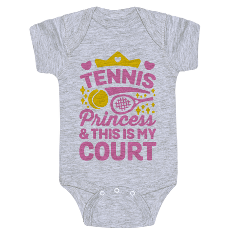 Tennis Princess Baby Onesy
