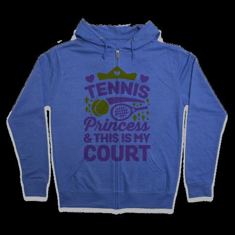Tennis Princess Zip Hoodie