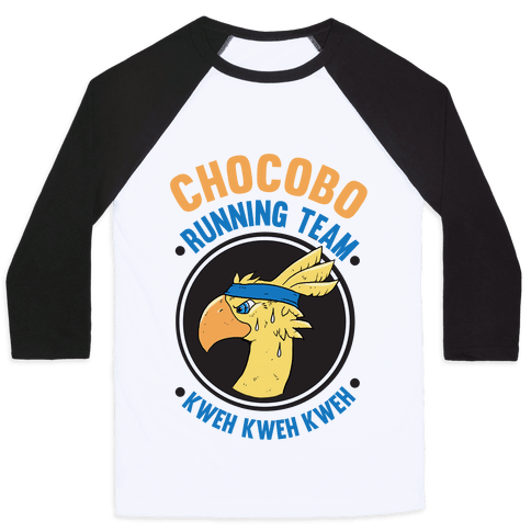 Chocobo Running Team Kweh! Baseball Tee