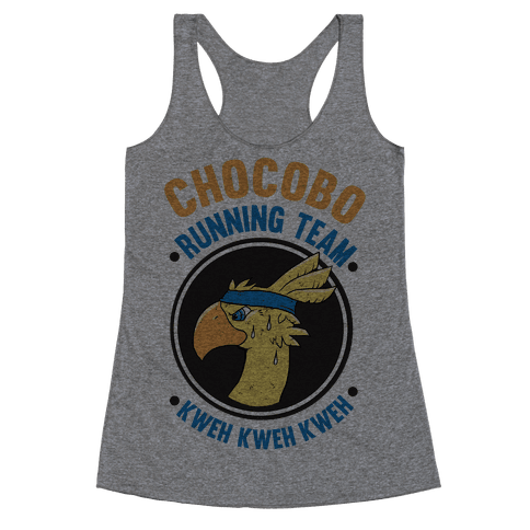 Chocobo Running Team Kweh! Racerback Tank Top
