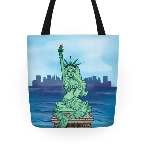 Statue of Liberty Mermaid Tote