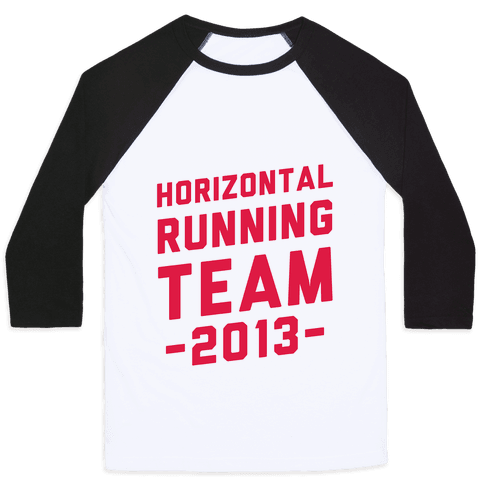 Horizontal Running Team Baseball Tee